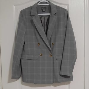 Plaid loose fit blazer